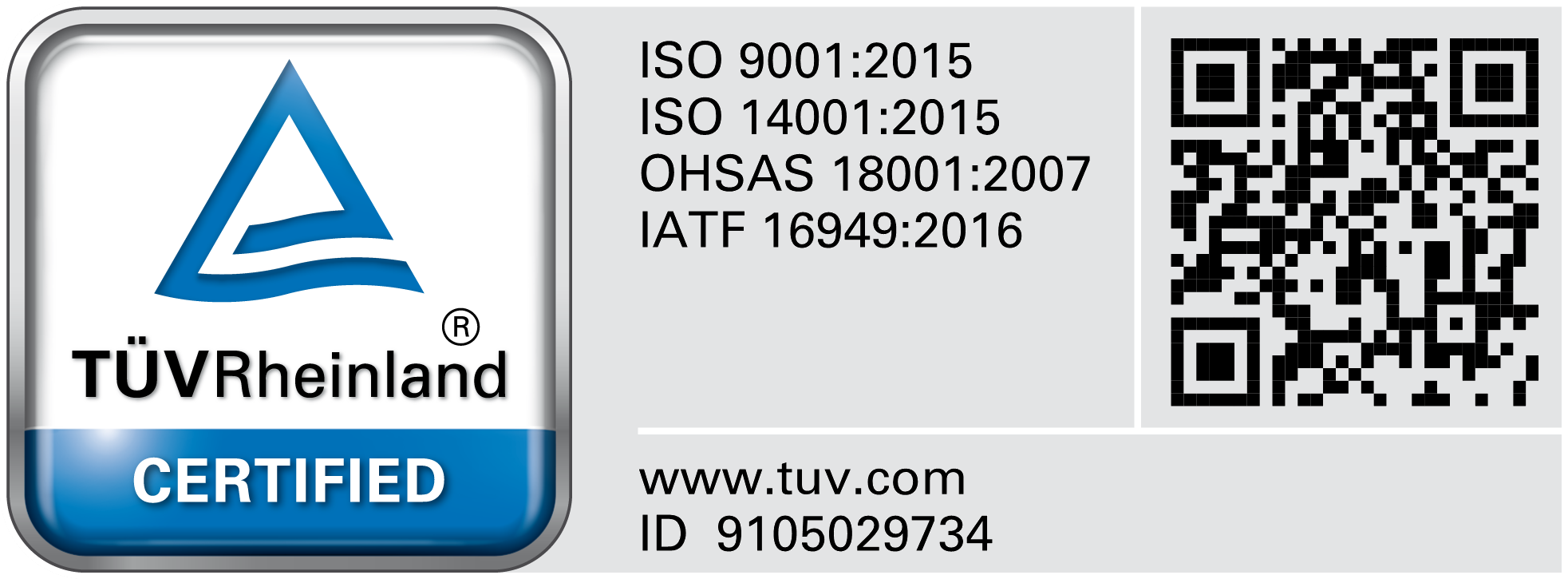 OHSAS 18001:1999 - Certificate Registration No : 01 113 05 3505